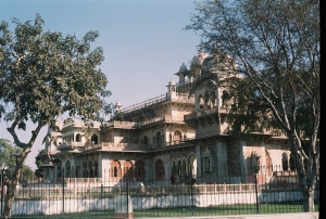 A view of the Albert Hall museum in the Ram Niwas Garden, Jaipur,Rajaathan
