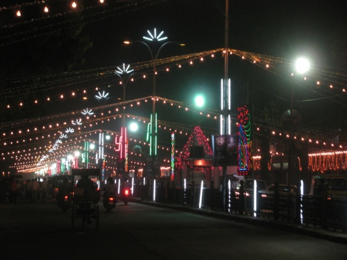 A Bazaar Decorated For Deepawali